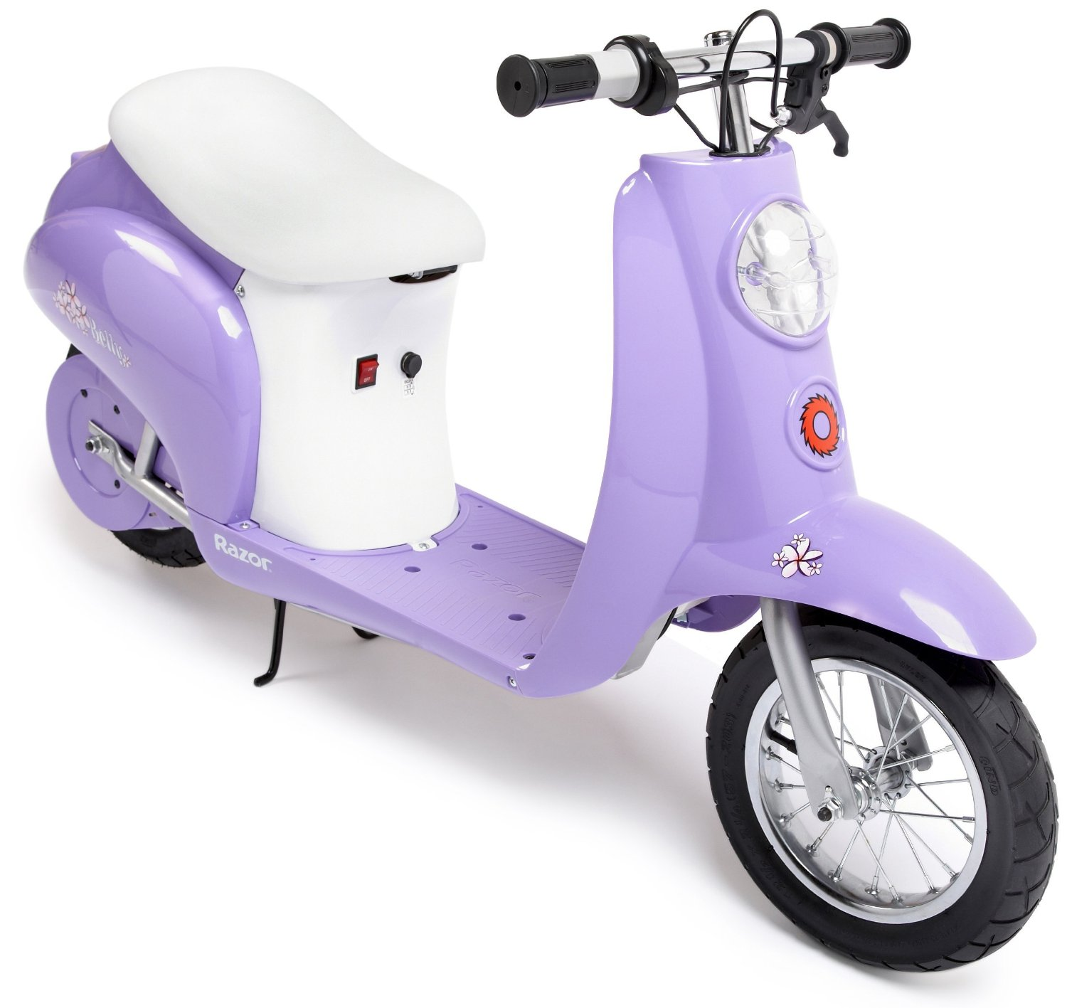 purple little electric scooter