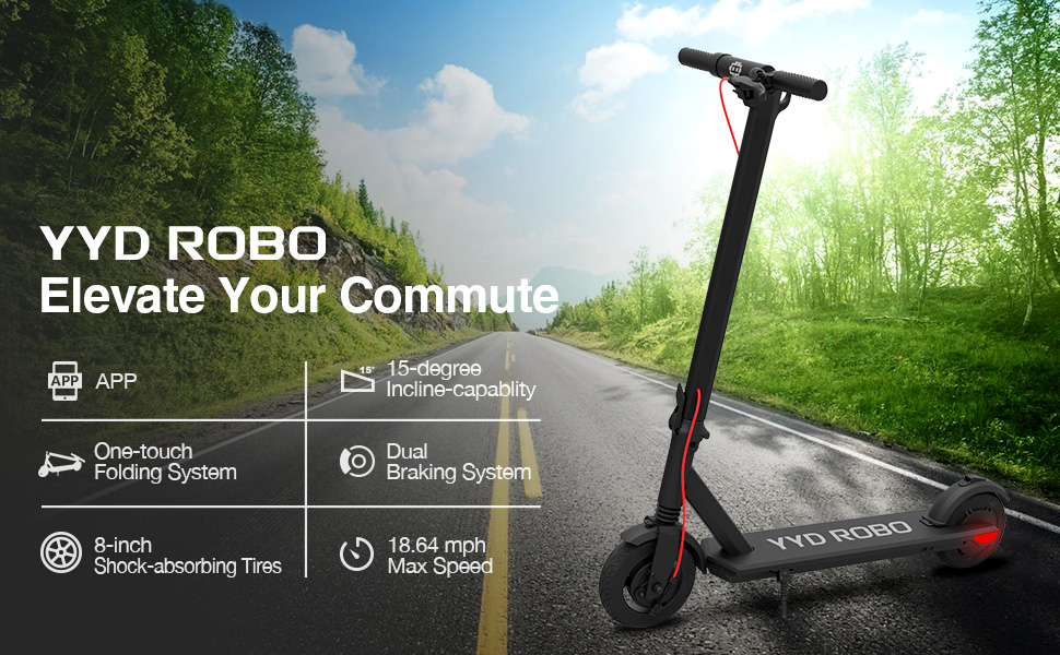 yyd robo electric kick scooter 350w review